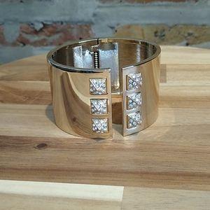 Victoria's Secret faux Gold cuff bracelet with box